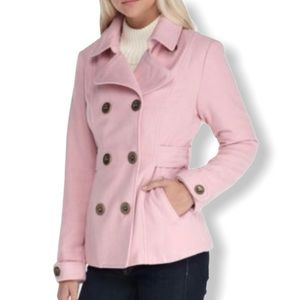 Inspired Hearts Double Button Blush Peacoat